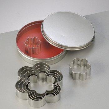 Efco Lot de 7 Emporte-pièces en INOX, Fleurs, 2,5 à 9 cm, découpe Fleuri
