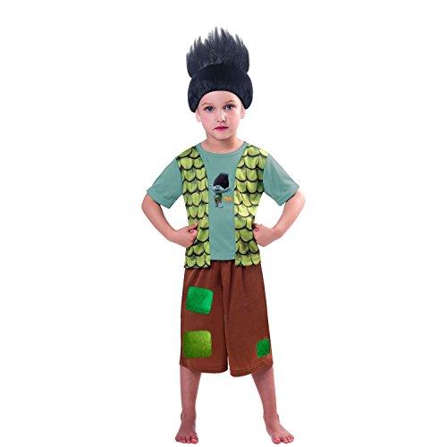 Christys Trolls Branch-Kostüm für Jungen Karneval braun-türkis 110/116 (5-6 Jahre)