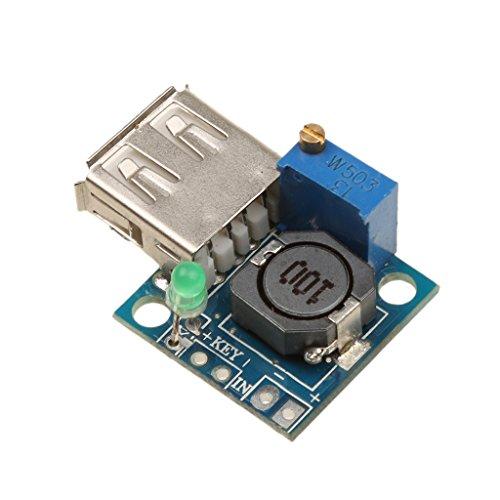 MagiDeal 12V to 5V 3A USB DC de DC Buck Converter Step Down Module Power Board