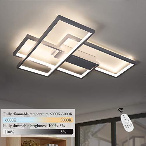 GBLY LED Deckenleuchte Dimmbar Modern Wohnzimmerlampe Weiße Deckenlampe 65W Geometrisch Wandlampe Multifunktional Deckenbeleuchtung für Wohnzimmer, Schlafzimmer, Büro, Flur und Balkon, 65x47x7.5CM