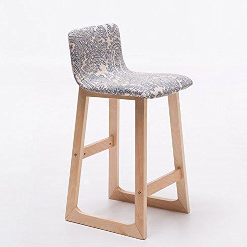 ZHANGRONG- Tabouret de bar avec assise en tissu et structure en bois, dossier et repose-pieds confortables 38.5x33x84 / 64CM -Tabouret de canapé (Couleur : 1002)