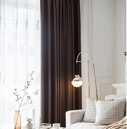 Finally popular brand Blue Thermal Insulated Curtains Time sale Blackout Curtain NOISE REDUCTION