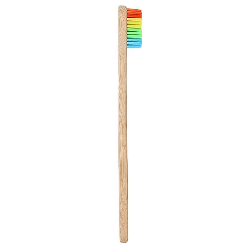 チーター最大の満足させるGoshang 歯ブラシ 超極細毛 ソフト 虹色 バンブー製 環境保護