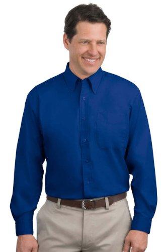 Kectelly Port Authority Men's Long Sleeve Easy Care Shirt