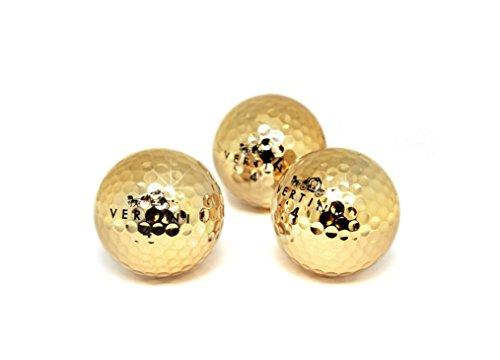 VERTINI 24K Gold PT. Premium Golf Balls
