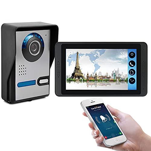 OUYA Cámara De Timbre con Video WiFi con Función Táctil, Calidad De Video HD 1024P, Desbloqueo Remoto De Llamadas De Teléfono con Cámara, Fácil Instalación