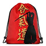 Aikido Sport Celluloid 3D Print Drawstring Backpack Rucksack Shoulder Bags Gym Bag For...