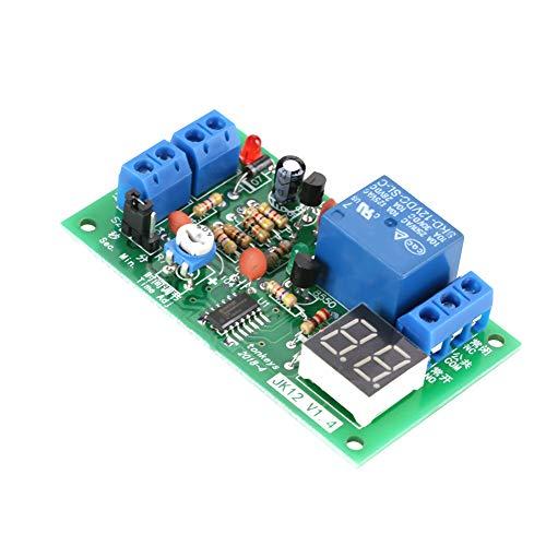 Interruptor de temporizador de retardo de ciclo de activación del módulo de relé de retardo de encendido/apagado con pantalla LED DC 12V