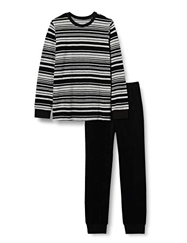 Schiesser Jungen Frottee Schlafanzug Lang Pyjamaset, grau-Mel, 176