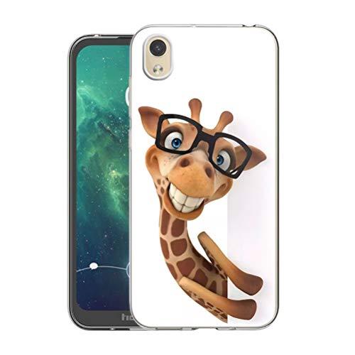 Pnakqil Funda Huawei Y5 2019 / Honor 8S Transparente Silicona Carcasa Ultrafina Suave TPU Piel Antigolpes Protectora Case Cover Compatible con Teléfono Huawei Y5 / Honor 8S, Jirafa