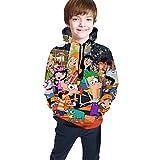 Kapuzenpullover Hoodies Hooded Sweatshirts Seatshirts Langarm 3D-Druck Phineas und Ferb Youth Hipster Hip Hop Gym