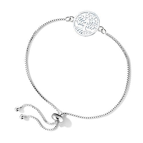 Charmsy Sterling Silver Jewelry Sliding Bolo Bracelet for Teen Women