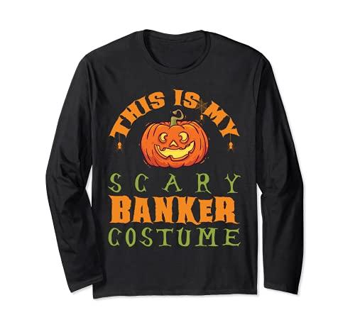 Este es mi miedo banquero disfraz divertido regalo de Halloween Manga Larga