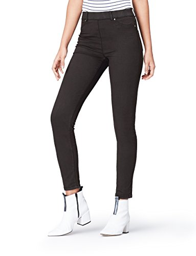 Marca Amazon - find. Jeggings para Mujer, Gris (Grey), 26W / 32L, Label: 26W / 32L