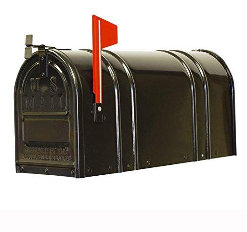 Fulton Corp Us#1-1/2 Black Rural Mailbox 1-1/2C-BLK