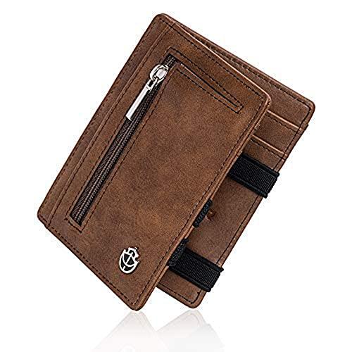Noah Noir Magic Wallet mit Münzfach - TÜV Geprüfter RFID Schutz (8 Kartenfächer) Magischer Geldbeutel mit Geschenkbox (Snake)