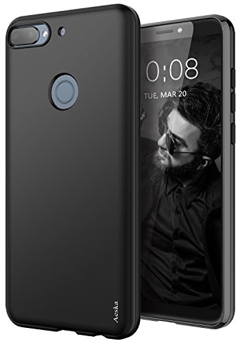 Aeska HTC Desire 12 Plus Case, Ultra [Slim Thin] Flexible TPU Gel Rubber Soft Skin Silicone Protective Case Cover for HTC Desire 12 Plus (Black)