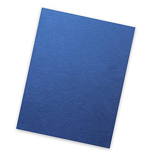 HOUYEE 12Mil Leather Texture Paper Binding Presentation Covers for Business Report Covers,School Reports Covers,8.5x11 Inches,Letter Size,Pack of 100 (Navy)