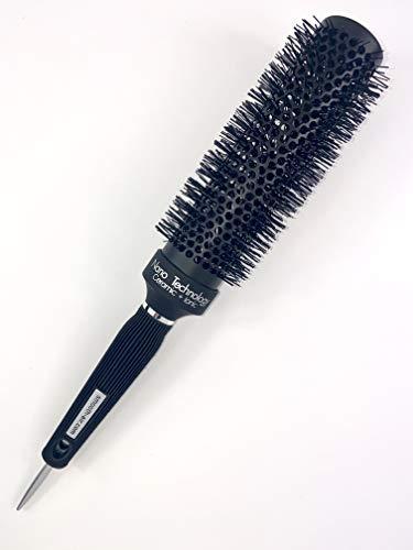 Extra Long Professional Round Barrel Hair Brush, Ergonomic+Nano Technology+Ceramic+Ionic+Tourmaline Infused Bristles 45mm (2.5' wide x 13' long)