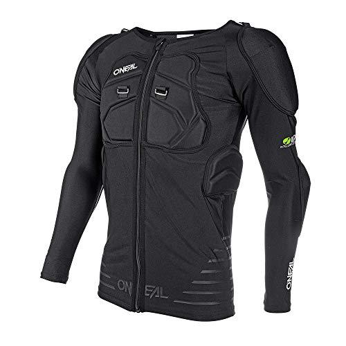 O'Neal   Giacca di Protezione   Motocross Moto   Giacca di Protezione Leggera Elastica, Schiuma di Poliuretano, Inserto in Rete   Camicia di Protezione a Maniche Lunghe STV   Adulto   Nero   Taglia L