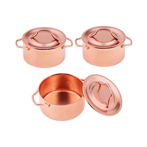 Baoblaze 3 Pedazos Modelo de Olla de Sopa con Cubiertas Accesorios de...