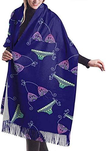 Pizeok Bufanda del invierno de la cachemira de la bufanda del mantón suave del modelo del bikini de la moda para los hombres de las mujeres