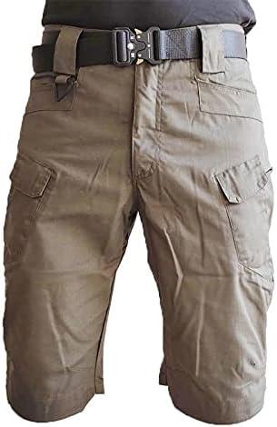 FMSZDSTMDNSDK Short Shorts for Men, Shorts Men Short Pants Mens Multi-Pocket Casual Cargo Shorts Male Clothing (Color : Khaki, Size : X-Large)