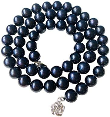 Pearl Romance II ROUND PEARL JEWELRY II Classic Cultured Freshwater Black Strand Pearl Necklace product image