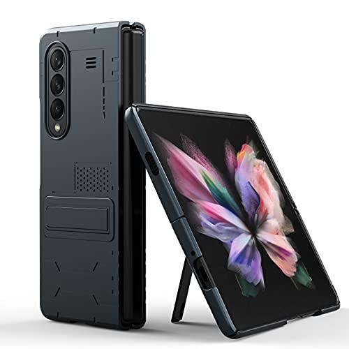 Funda para Samsung Galaxy Z Fold 3, Híbrida Enchapado PC Carcasa con Soporte Duradero, Antideslizante Antihuellas, a Prueba de Golpes, Funda Protector para Samsung Galaxy Z Fold 3 5G 2021 (Gris)