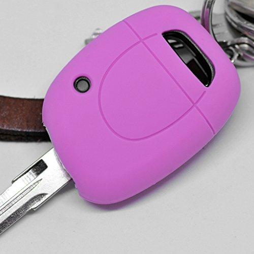 Soft Case Schutz Hülle Auto Schlüssel Renault für 1 Tasten Funkschlüssel Remote Clio Twingo Kangoo/Farbe: Rosa