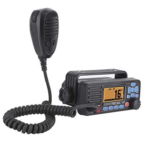 Qqmora Marine Bootsradio GPS Marine Radio UKW Radio UKW Marine Transceiver Marine Stereo Marine Radio Wasserdicht für Marine für Boot
