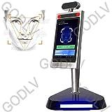 GODLV Máquina de control de acceso de reconocimiento facial, medición de temperatura por infrarrojos, detección de temperatura corporal, máquina todo en uno