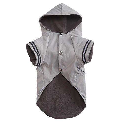 Gulunmun Regenjacken Für Hunde Haustier Hundekostüm Mit Kaschmir Innen Für Regentage Welpen Winddicht Und Wasserdicht Regenmantel Hund Gifts-H_M_