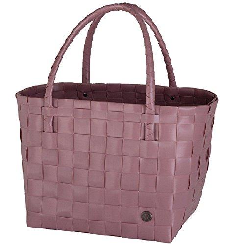 Handed By Handgewebt Paris shopper Tasche, Rosa (Rustic Pink), 27 x 31 x 24 cm