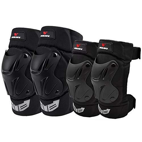 TBATM Knieschützer + Ellbogenschutz Motorrad Hockey Ski Erwachsene Volleyball Reiten Schutzausrüstung 4-TLG
