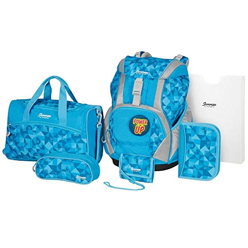 Samsonite Sammies Ergofit - Schulranzen-Set 6-teilig, Blau (Game Time)