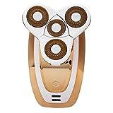 Máquina eléctrica del retiro del pelo de carga USB para el afeitado facial del cuerpo entero y el retiro del pelo facial de la rotación del cuerpo entero