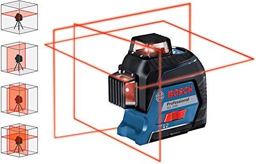 Bosch Professional Linienlaser GLL 3-80 (roter Laser, max. Arbeitsbereich: 30 m, 4x AA Batterie, im Handwerkerkoffer) - 2