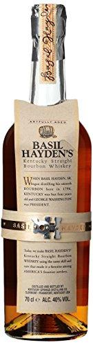 Basil Hayden\'s 8 Jahre Kentucky Straight Bourbon Whisky, sanfter Geschmack mit einem scharfen Finish, 40{37cf5b0801d9cd8fe6597f717d9a68cfeb4250ea834e6cbd101ef675b7950548} Vol, 1 x 0,7l