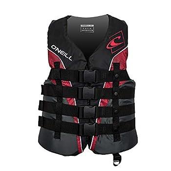 O Neill Men s Superlite USCG Life Vest Black/Graphite/Red/White,3X-Large