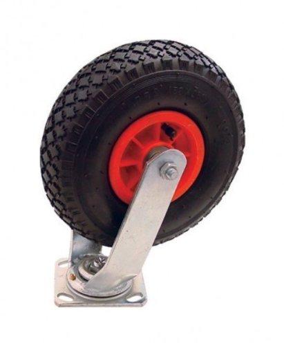 Lenkrolle 260x80mm Luftreifen Transportrolle Bockrolle Luftrad Rolle
