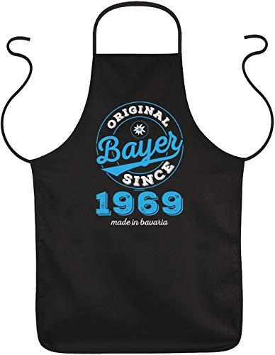 Mega-shirt schort Original Bayer Since 1969, Made in Bavaria cadeau voor de 50e verjaardag voor de 50e verjaardag keukenschort 50 jaar cadeau-idee 50 stuks