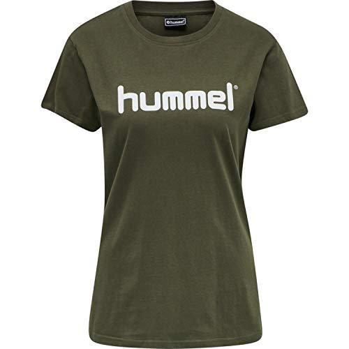 hummel Go Cotton Logo - Camiseta para Mujer (Talla S/S), Mujer, Camiseta,...