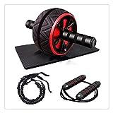 HDDFG AB Wheel Home Gym AB Roller Máquina De Entrenamiento Bandas De Resistencia Cuerdas para Saltar Equipo De Fitness para Hombres Mujeres Ejercicio Abdominal