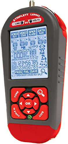 Triplett LVPRO30 Network Cable Tester/Verifier with 12 Tester Apps - COAX, CAT5/5e/6/6a/7, Shielded/Unshielded