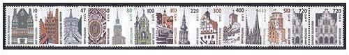 Goldhahn BRD Sehenswürdigkeiten III 13 Wertstufen Doppelnominale Postfrische Paare Briefmarken für Sammler