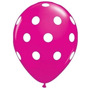 Party decoration Pink Polka dot balloons  12  latex