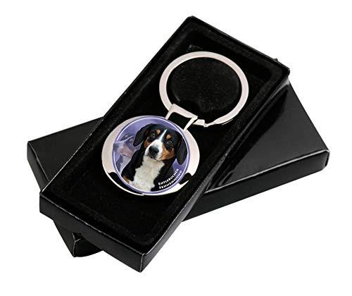 LUKKA Entlebucher Sennenhund Schlüsselanhänger in Geschenksverpackung.