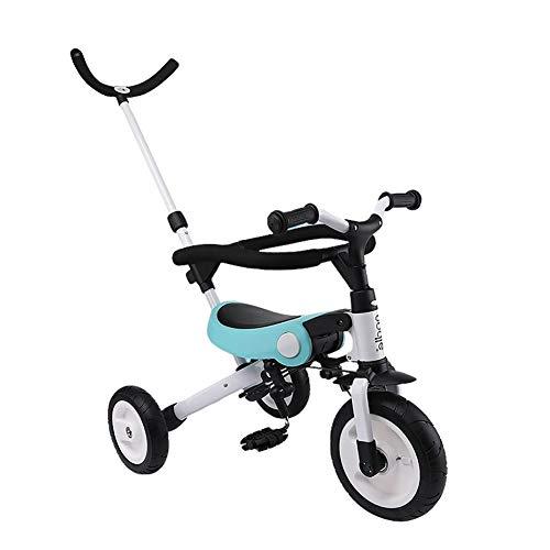 GYF Equilibrio Triciclo Bicicleta de Paseo for niños de Cuatro-en-uno Plegable Valla...