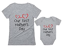 Best Mother's Day Gifts on Amazon - mom and baby shirts